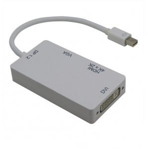 Mini DisplayPort to DVI/HDMI/VGA Adapter 1.2V 3 in 1 Adapter